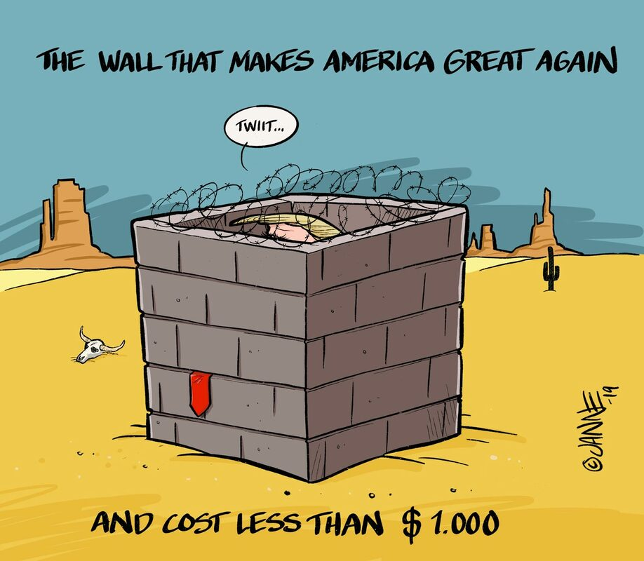 the wall that makes America great again